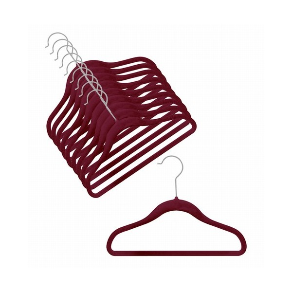 Space Saver Kid S Hanger Burgundy 12 Hangerswholesale