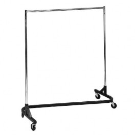 Garment Rack, Fitted Zig-Zag, Chrome with Black Base
