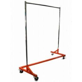 Garment Rack, Fitted Zig-Zag, Chrome with Orange Base