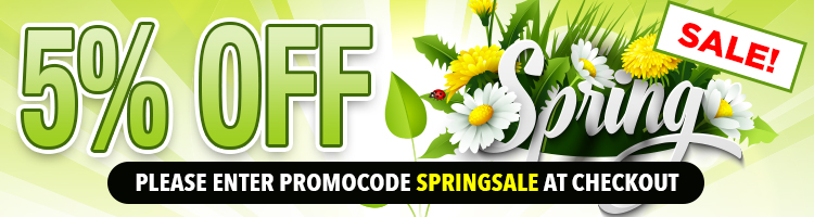 5% OFF Spring Promo