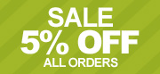Sale 5% Off All Orders